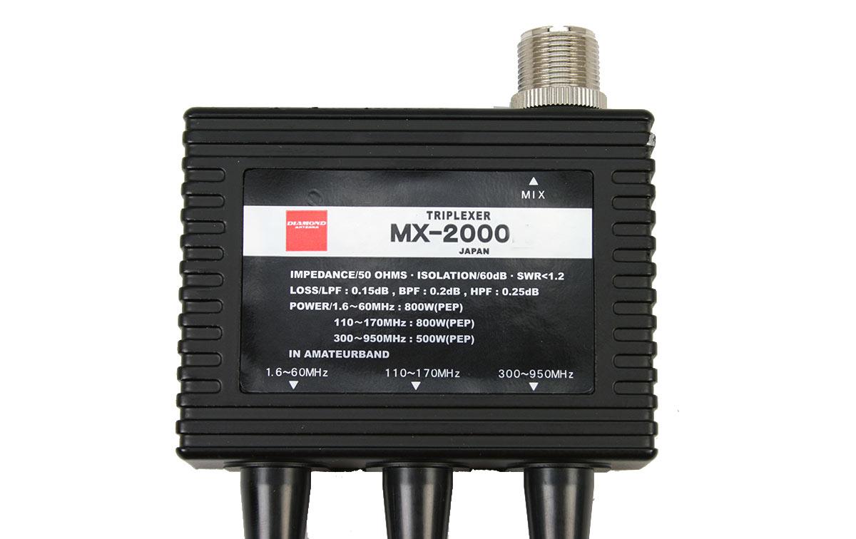 mx2000 diamond original japon. triplexor 1,6- 60 mhz,110-170 mhz,300-950 mhz.