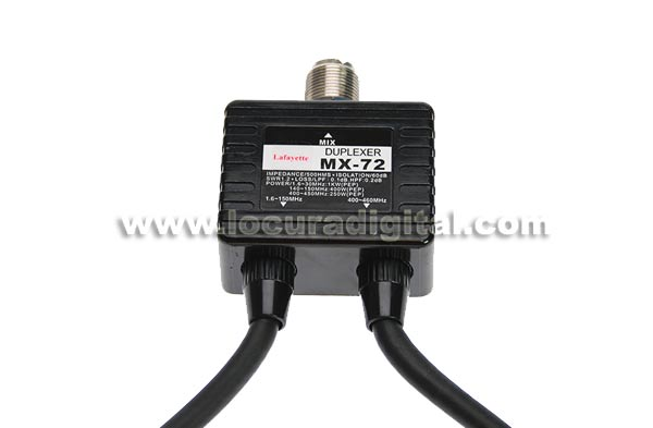 MX72-LAF LAFAYETTE duplexor HF-VHF-UHF con cables conectores PL