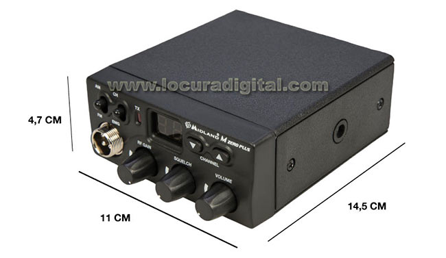 mzeroplus midland m zero plus emisora cb 27 mhz de muy reducidas dimensiones