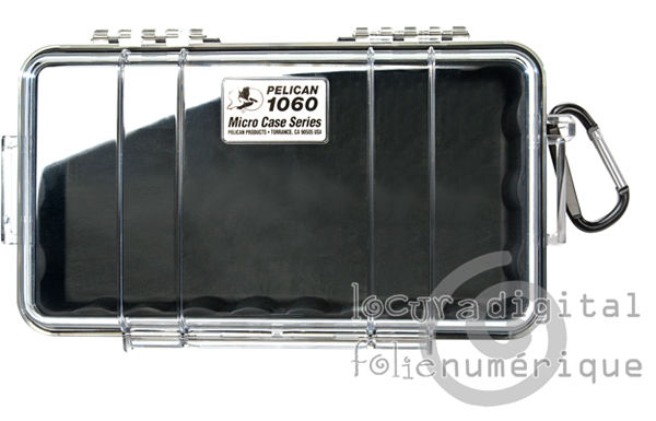 1060-025-100E Micro-Clear Protective Case-Black