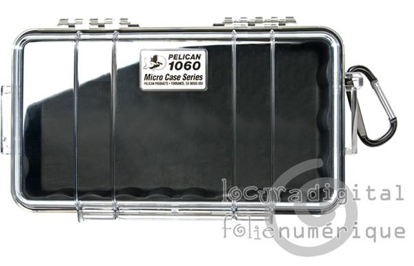 1060-025-100E Micro-Maleta de protección Transparente-Negra