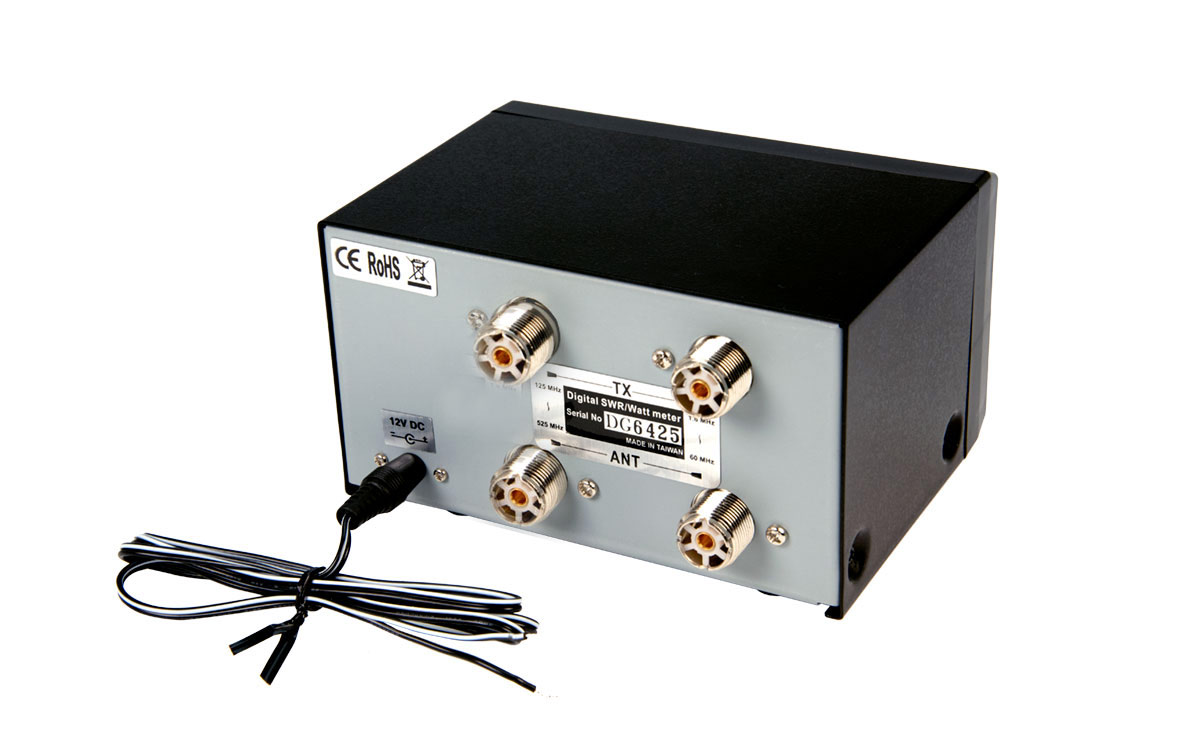 El DG-503 funciona en bandas de 1,6 a 60 MHz y de 125 a 525MHz,