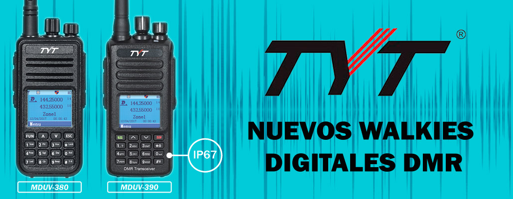 NUEVOS WALKIES DIGITALES TYT