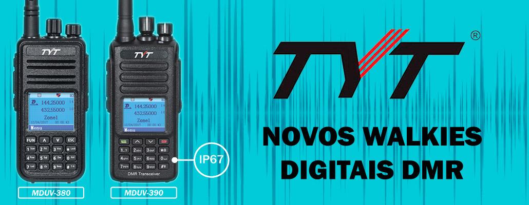 NOVOS WALKIES DIGITAIS TYT
