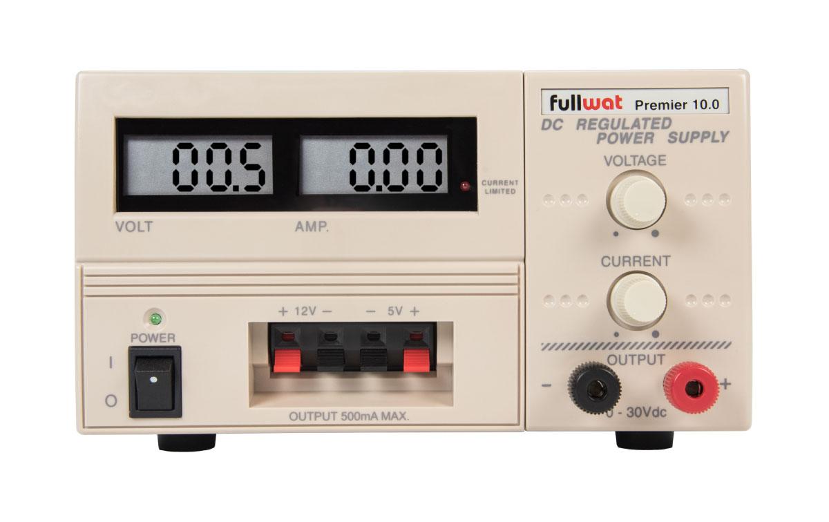 np-9625 fuente de alimentación regulable 0-30 volts., 0-10 amperios