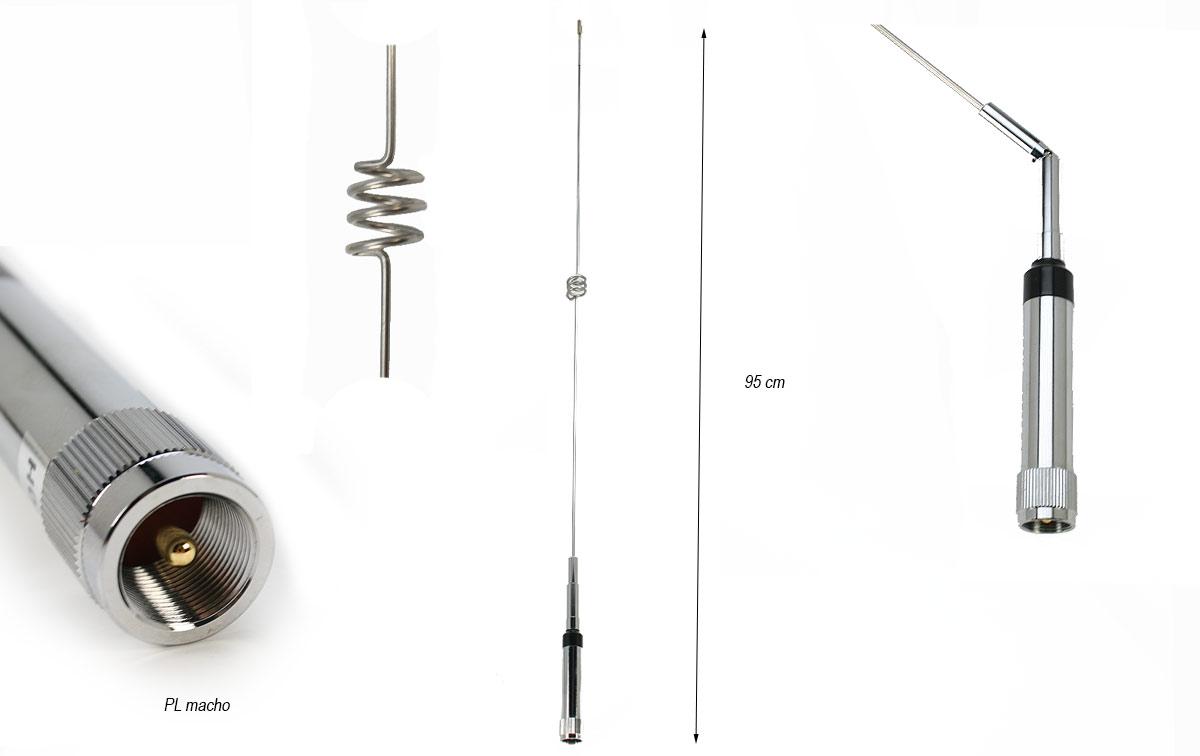 FALKOS NR770H Antena movil doble banda VHF 2,15dB -UHF 5,5 dB.95 cms.