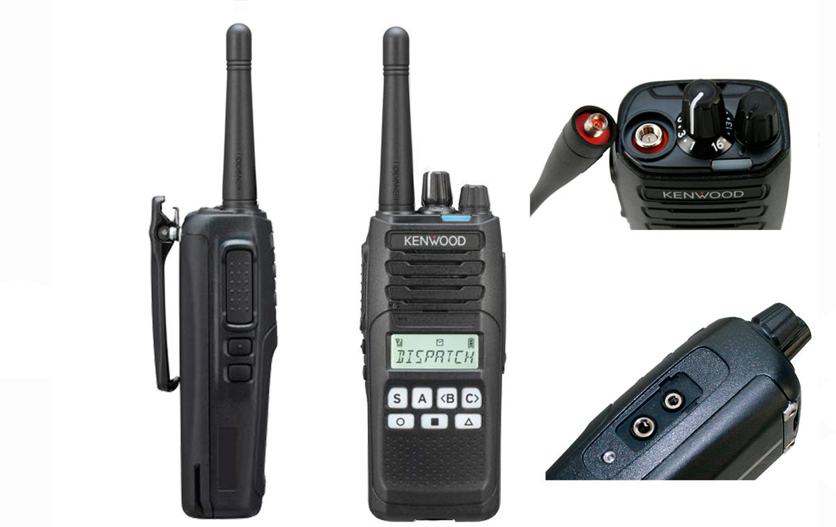kenwood nx-1200de2 transceptor con pantalla analógico dmr vhf 136-174 mhz