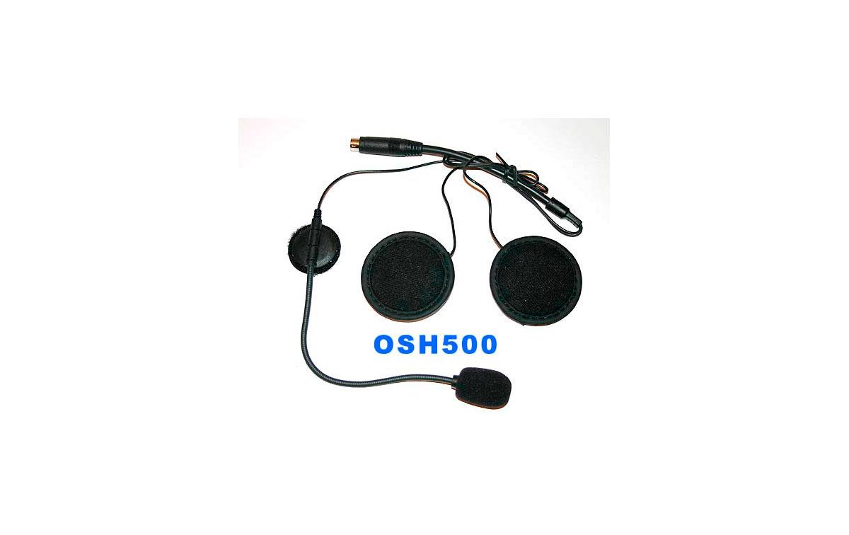 OHS 500. Microfono altavoz auricular para casco abierto.