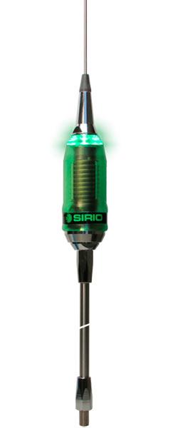 SIRIO P 5000 38 LED Antena CB 27 Mhz. Con iluminación LED en TX, conector PL no incluye cable Longitud 2008 mm.