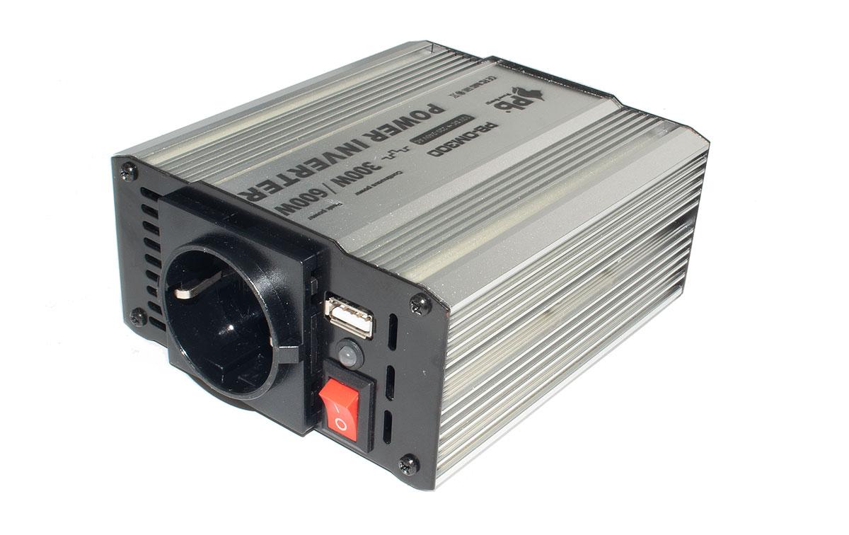 WHS300 12. INVERSOR 12 V. a 220 V. Potencia 300 WAT.