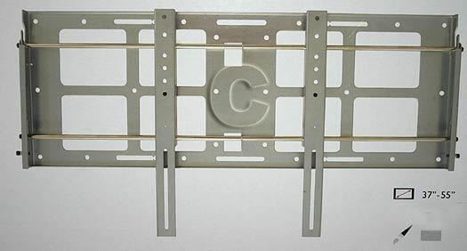 """PF1 plata. Capacidad de peso: 80kg. Soporte de pared para pantallas de plasma de 37"""" a 55"""""""