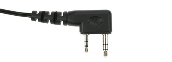 PIN 17 K.   Micro-Earphone, PTT button type, smooth cable. For KENWOOD handhelds.