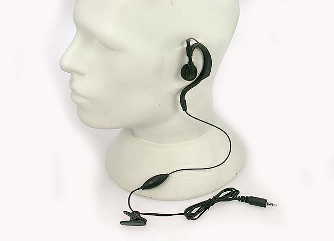 PIN19PKT Micro Auricular Orejera negro PTT para walkies KENWOOD PKT-23