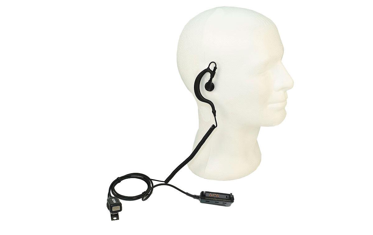 PIN229G2 NAUZER micro-auricular para walkie TETRA TETRAPOL MATRA EADS, SMART y EASY. para PolicÍa Nacional, Ejercito, Cuerpo de Seguridad, Cuerpo de Emergencia, Gerdarmerie, Police Nationale, Bombero