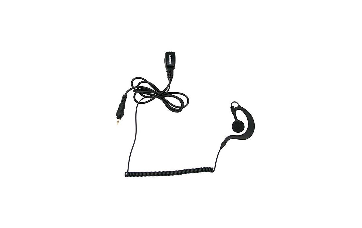 PIN29-CLP NAUZER Micro Auricular orejera, cable rizado negro alta gama para MOTOROLA CLP446 y CLP Se