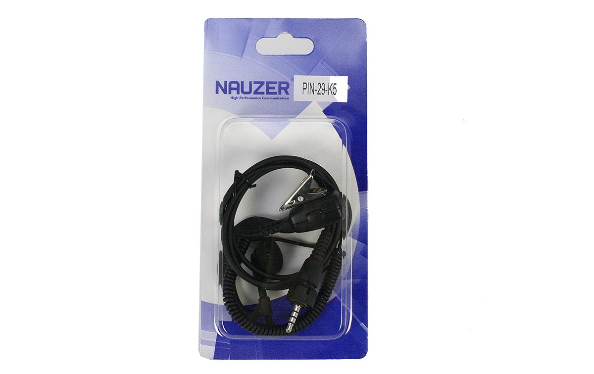 pin29k5 nauzer micro auricular cable rizado negro para walkie tk3601 kenwood. micro-auricular gama alta. dispone de pinza metálica giratoria en el micro de solapa. cable rizado