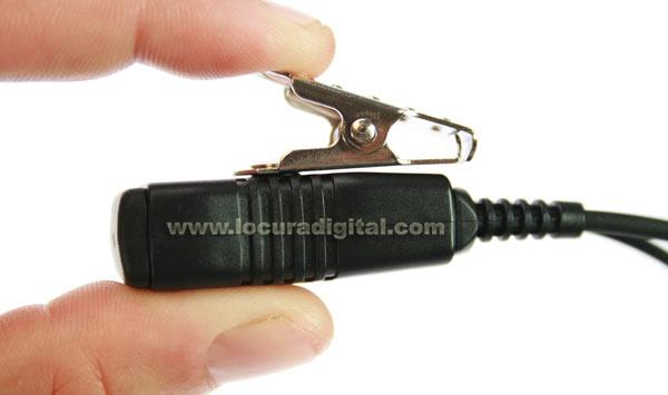 Nauze PIN29MTR micro-fone de ouvido para walkie