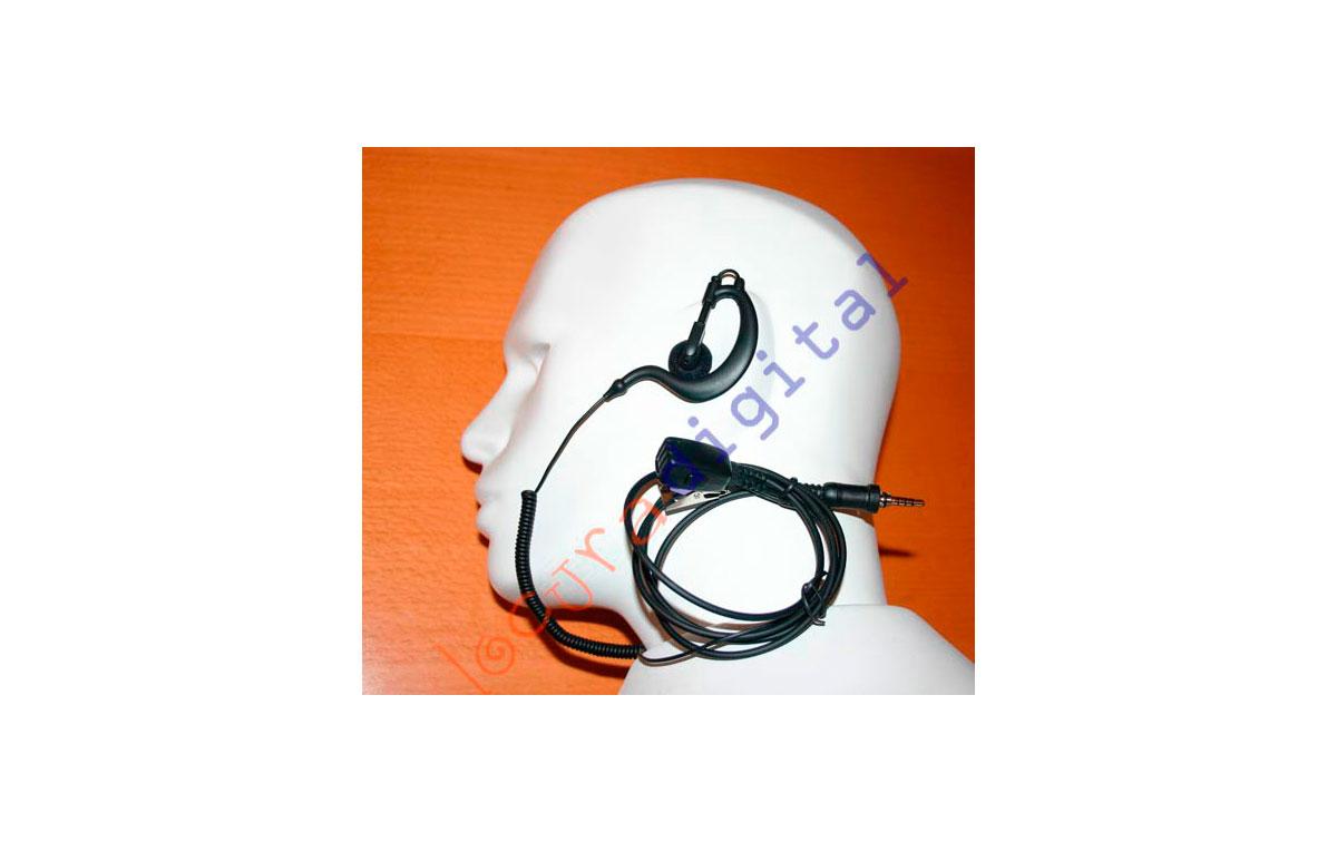 Nauzer PIN-29-Y4. High quality micro-earphone with PTT. For YAESU VERTEX handhelds