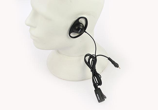 PIN77CLP NAUZER micro-auricular orejera cerrada, cable recto, Para MOTOROLA CLP Series