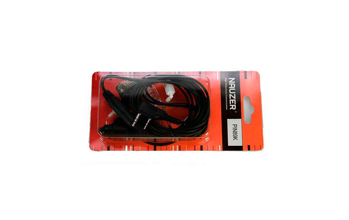 PIN Nauze 89-K Micro-Auricular tubular com PTT especial para ambientes ruidosos, militares, de seguran?ou industrial. Ideal para Vigil?ia em Discotecas, concertos ....