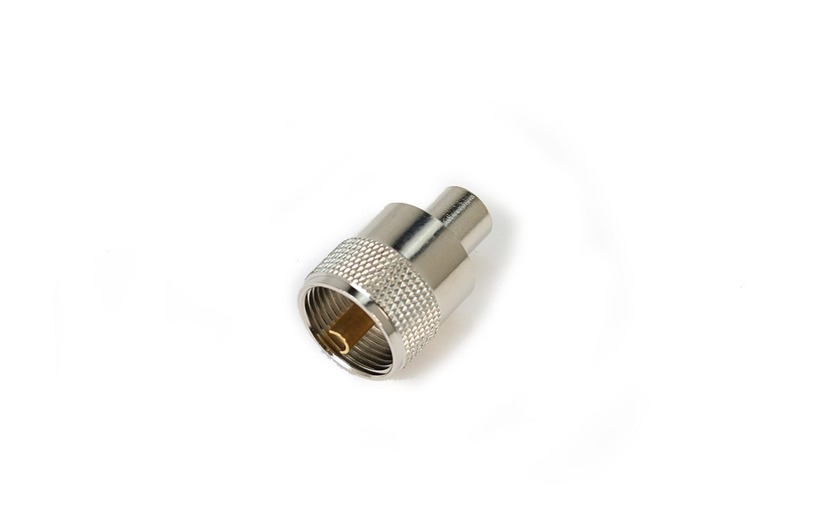 PL259-SHORT-GOLD Conector PL MACHO Corto baño de ORO aislante TEFLON