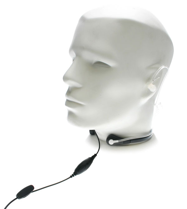 Nauzer PLX15-K. Throat activated microphone with Hands-free VOX System. For KENWOOD, LUTHOR, PUXING and WOUXUN handhelds
