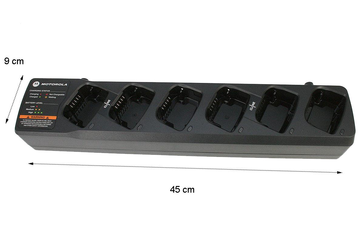 PMLN6385 MOTOROLA Cargador baterias 6 unidades XT-420, XT-460 y XT-220. Carga baterias litio MOTOROLA PMNN4453 y PMNN4434