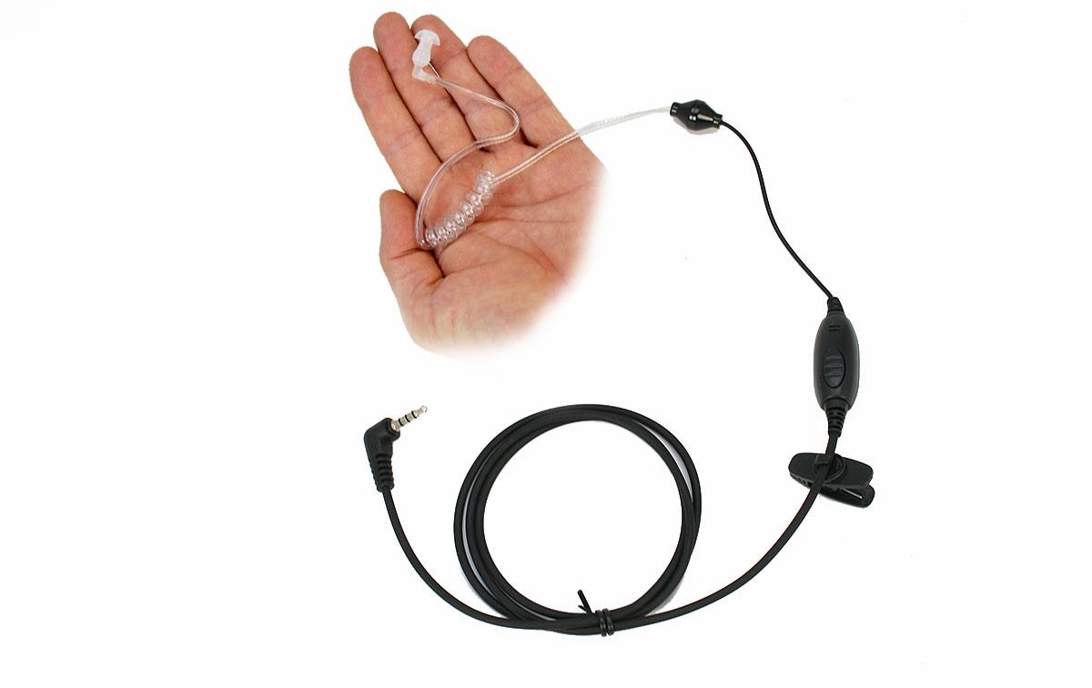 Polmar MA-19 Micro Auricular cable tubular transparate para walkies Polmar