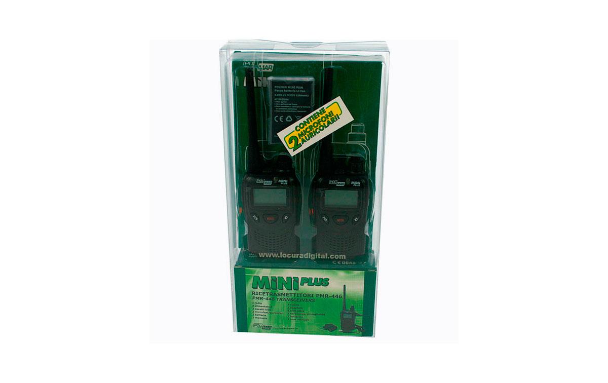 MINIPLUS2 POLMAR MINI walkie PMR-446 blister de 2 unidades + pinganillos de regalo