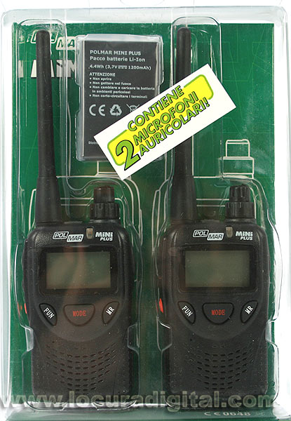 POLMAR MINIPLUS2 PMR walkie-446 MINI blister of 2 units