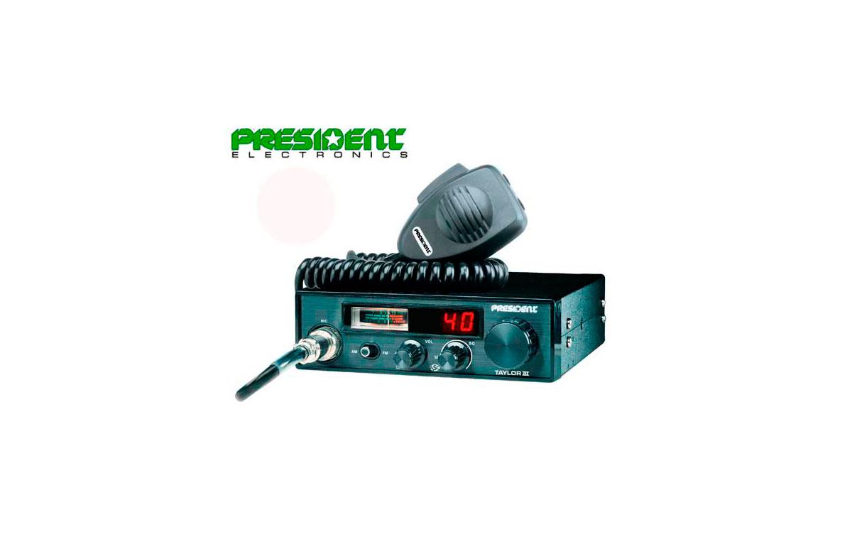 PRESIDENT TAYLOR III ASC EMISORA  TAÑAMO MEDIANO DE BANDA CIUDADANA  CANALES 40 AM / FM Multi-Normas