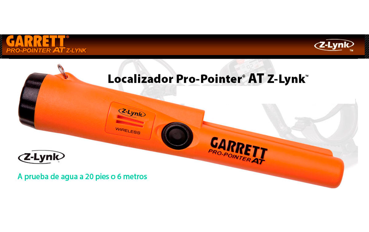 PRO-POINTER-ATZ-LINK Detector metales manual sumergible 6m inalambrico
