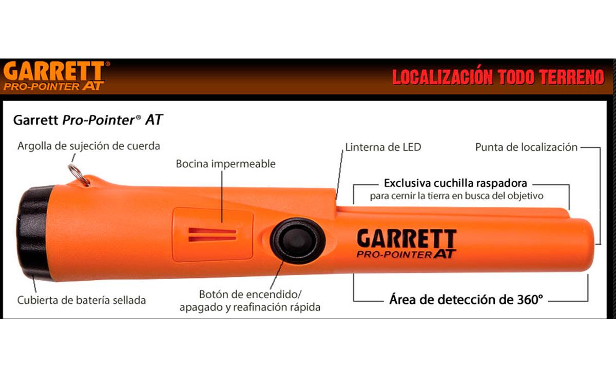 propointerat garret detector de metales manual sumergible 6 m