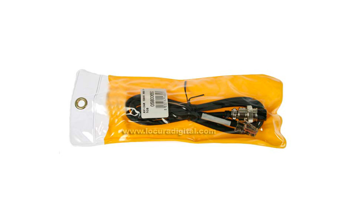 AV-24K cable conexión KENWOOD tipo redondo 8 pins para microfono AV-508 y AV908