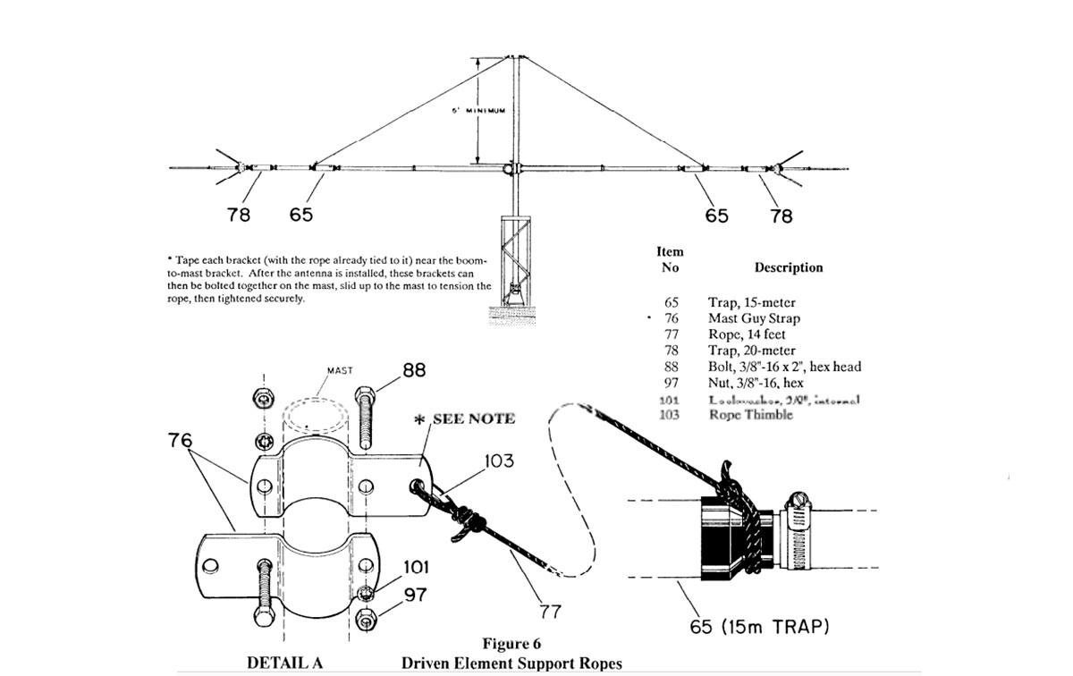 QK-710 Hy-Gain Kit 30/40m parar antena Explorer EXP-14, El Hy-Gain QK-710 permitirá la conversión de la antena Explorer EXP-14 cubra las bandas de 30, 20, 15 y 10 metros o las bandas de 40, 20, 15 y 10 metros. Este kit permitirá que el elemento resuene en 30 o 40 metros con VSWR menos de 1.6: 1 en resonancia. El ancho de banda de 2: 1 VSWR es típicamente de 100 kHz en 30 metros y 175 kHz en 40 metros