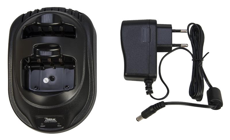 Z47206 ZODIAC Cargador baterias doble para PROLINE+, TEAM PRO+, SAFE, E TECH IRIS. Color Negro