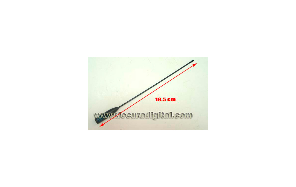 RH-519-HOX HOXIN Antena para walkie doble banda VHF/UHF.  Longitud  18.5 cm. Conector BNC