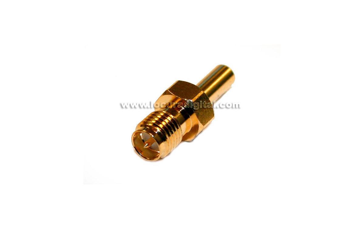 RSMA174HH Conector SMA REVERSO hembra de crimpar para cable RG-174