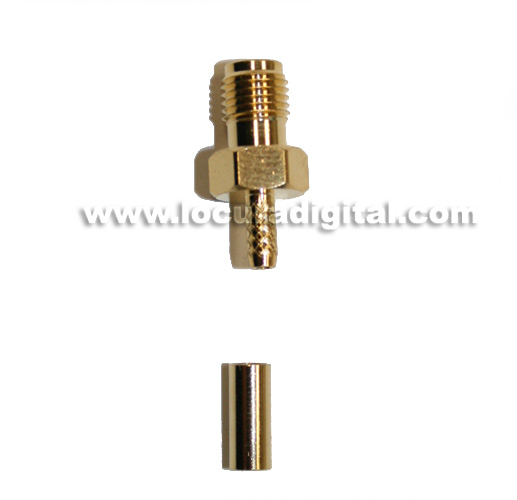 RSMA174HH REVERSE SMA female connector crimp for RG-174 cable