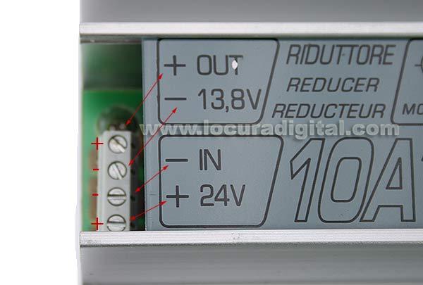 R10 ZETAGI ZETAGI strain relief 24 to 12 volt 10 amp, self-protected