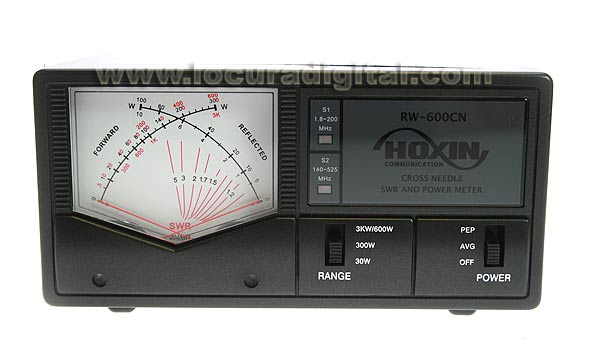 hoxin rw600cn swr meter / power frequency 1.8 to 160 / 140-525 mhz