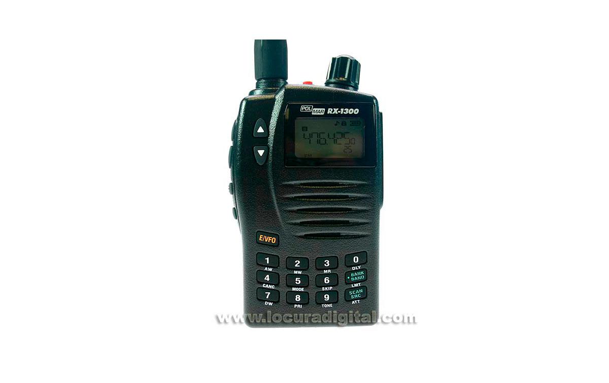 RX1300 POLMAR Escaner receptor de frecuencias portatil 0.150 - 1309.995 Mhz Banda corrida.