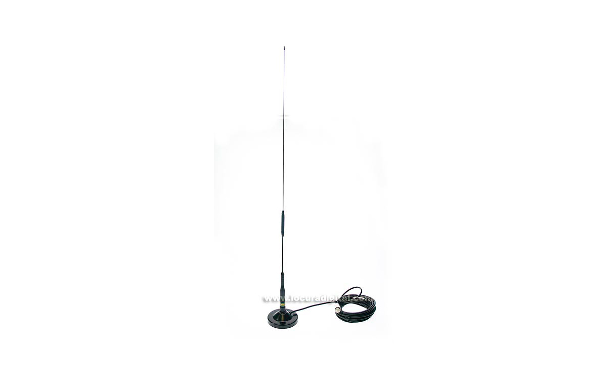 S76BKIT1. ANTENA MOVIL UHF ALTA GANANCIA + BASE DE IMAN.