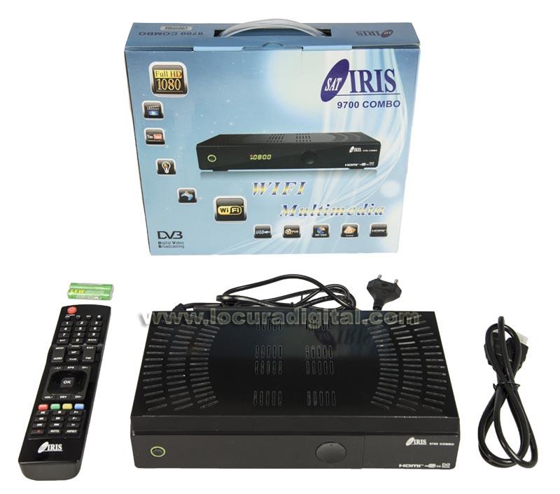 iris-9700 combo receptor satelite tdt2 wifi full hd
