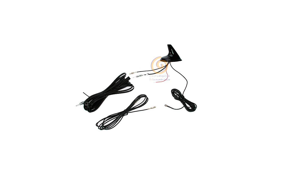 SHARK2 Antena tribanda para vehiculo GPS, UMTS-GSM, AM-FM amplificada