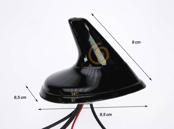 SHARK2 triband antenna for car GPS, UMTS, GSM, AM-FM Amplified