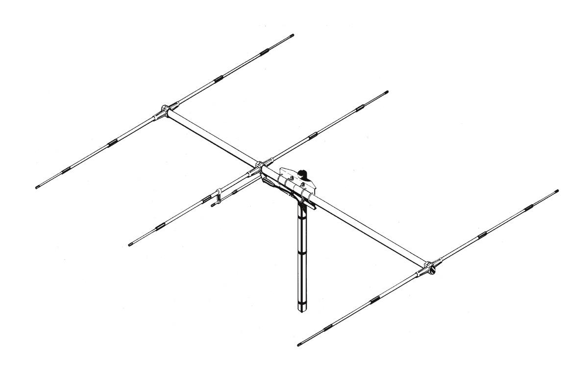 SIRIO SY27-3. Antena CB Direcitva YAGI de 3 elementos para CB 27 Mhz