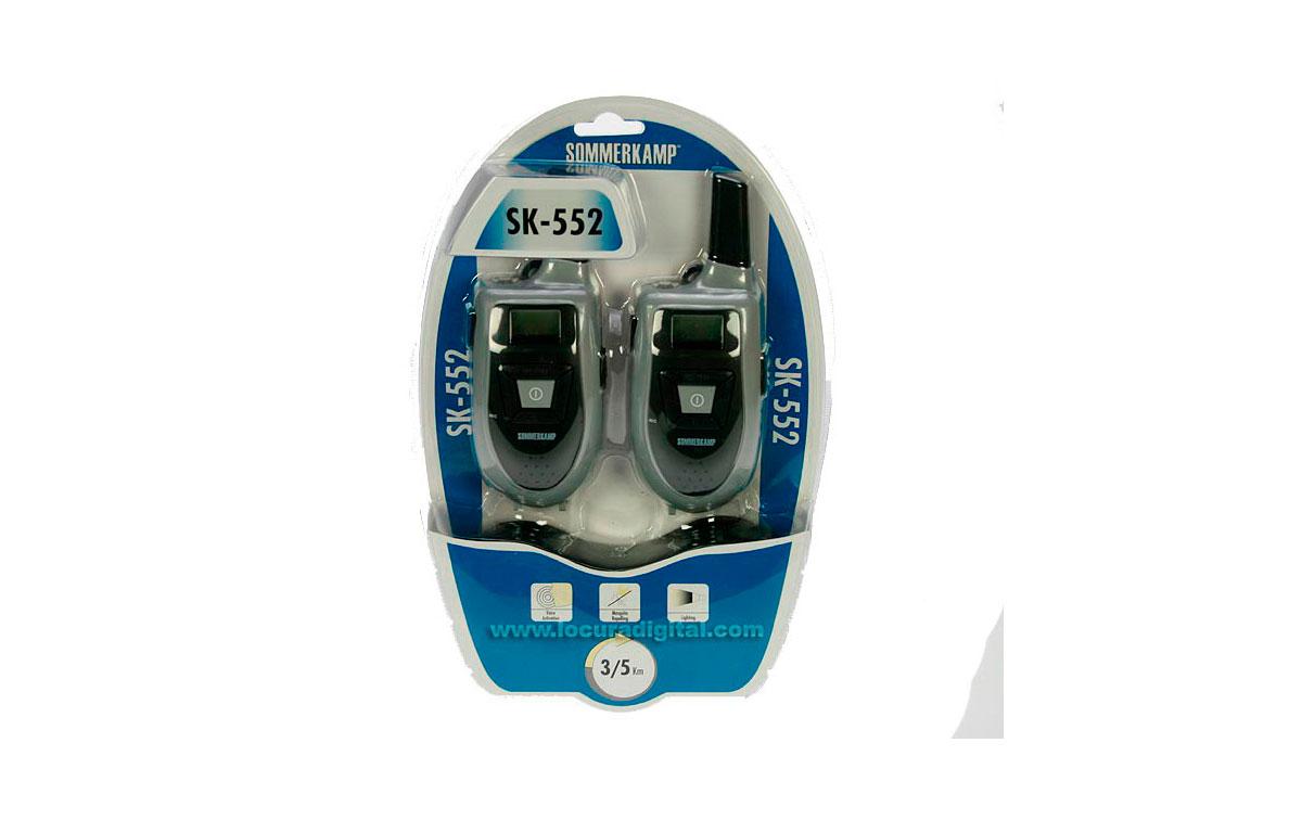 SK-552 SOMMERKAMP PMR446 pareja de walkies + 2 PINGANILLOS + 1 CARGADOR DOBLE