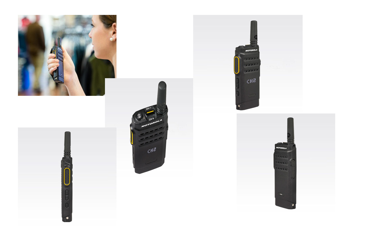 Motorla SL1600-UHF Walkie Tecnología : Analógico, DMR TDMA Digital VHF 406-470 mhz con display LED 3 W