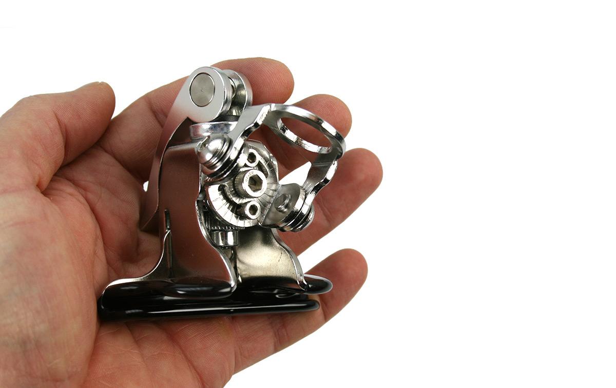 mirmidon sp128m soporte rapido vertical para maletero color plata